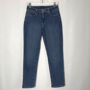 NYDJ Ankle Jeans Stretch High Rise. Size 2
